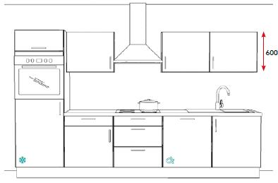 keuken u vorm zonder bovenkasten